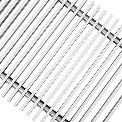 Решетка рулонная алюминиевая Techno PPA 200-1600 серебро
